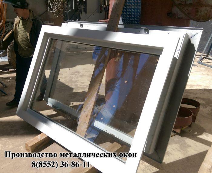 производство металлических дверей со стеклопакетом
